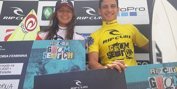 Caio Costa e Sophia Medina dominam o Rip Curl Grom Search pelo segundo ano consecutivo